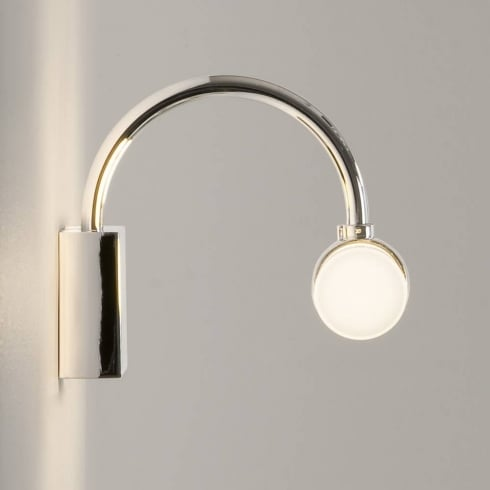 Astro Lighting Dayton 0335 Bathroom Surface Wall Light Polished Chrome with Opal Glass