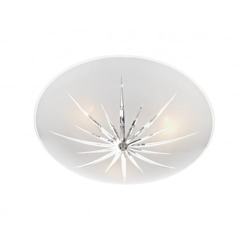Dar Lighting Albany ALB532 Polished Chrome Semi Flush 3 Light Ceiling Fitting