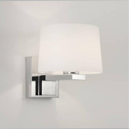 Astro Lighting Broni Round 0776 Chrome and Opal Glass Bathroom Wall Light