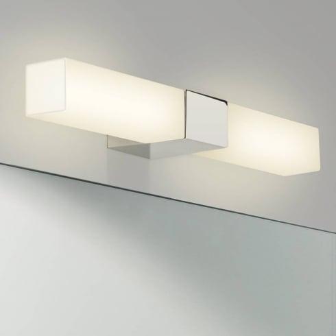 Astro Lighting Padova Square 7028 Square Chrome Opal Glass Bathroom Wall Light
