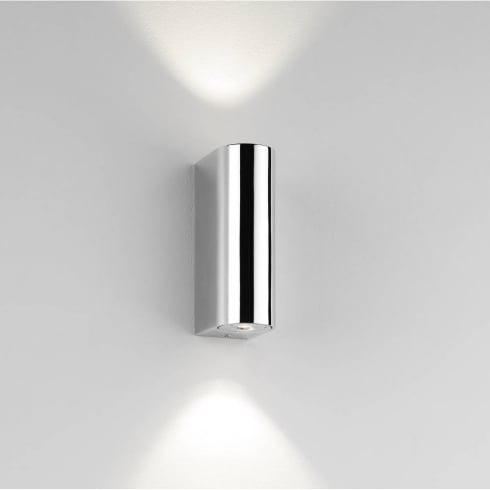 Astro Lighting Alba 0828 LED Polished Chrome IP44 Surface Wall Light