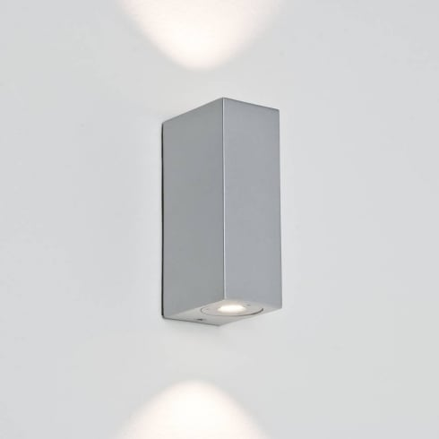 Astro Lighting Bloc 7044 Silver Finish LED Bathroom Up and Down Surface Wall Light IP44