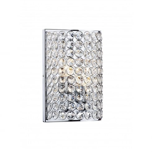 Dar Lighting Frost FRO0950 Polished Chrome 2 Light Wall Fitting