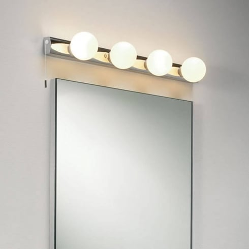 Astro Lighting Cabaret 0499 Four Bulb Polished Chrome Bathroom Wall Light IP44