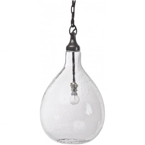 Libra lighting and furnishings bubbles 36209 clear blown pendant ceiling light with bronze metal work