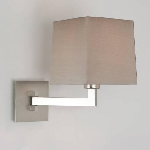 Astro Lighting Momo Single 7015 Matt Nickel Swing Arm Bathroom Wall Light