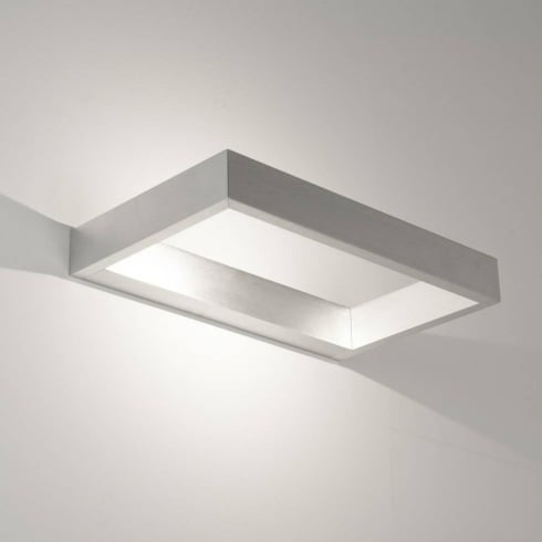 Astro Lighting D Light 0956 Modern LED Surface Wall Light in a Brushed Aluminium