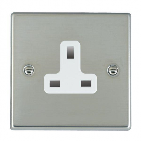 Hamilton Litestat Hartland 73US13W Bright Chrome 1 gang 13A Unswitched Socket