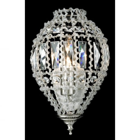 Impex Russell BOMBAY CO01219/WB/C Crystal Beaded Wall Light