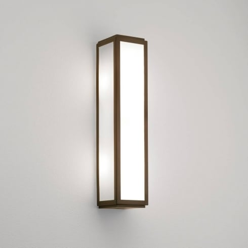 Astro Lighting Mashiko 360 0877 Bathroom Wall Light Bronze with Opal Glass IP44