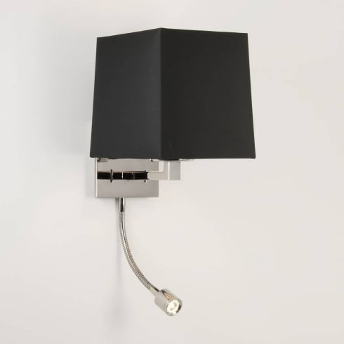 Astro Lighting Azumi 0789 Polished Nickel LED Classic Surface Wall Light with Adjustable Spot Light