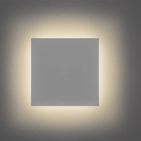 Astro Lighting Eclipse 300 7248 Square Modern Surface Wall Light White Paintable