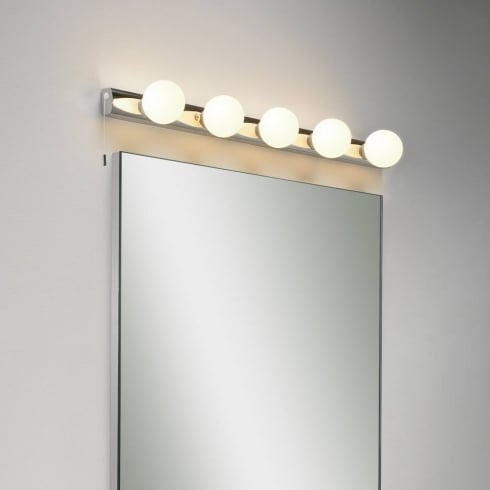 Astro Lighting Cabaret 0957 Five Bulb Polished Chrome Bathroom Wall Light IP44