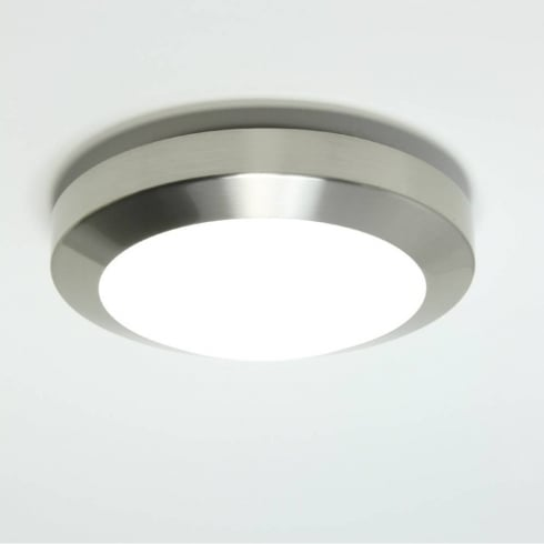 Astro Lighting Dakota Plus 180 0673 Low Energy Flush Ceiling or Wall Light Nickel with Opal Glass