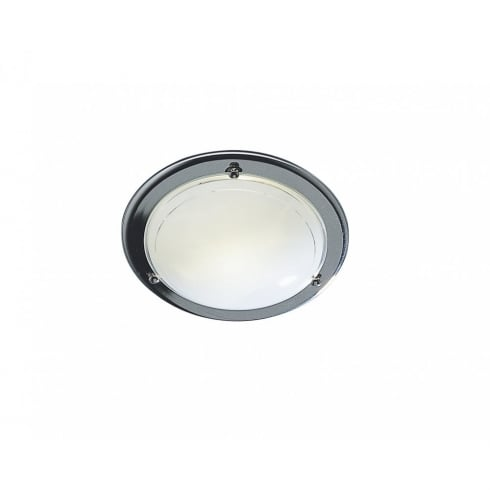 Dar Lighting Disc DIS5250/2D Chrome Small Flush Ceiling Light