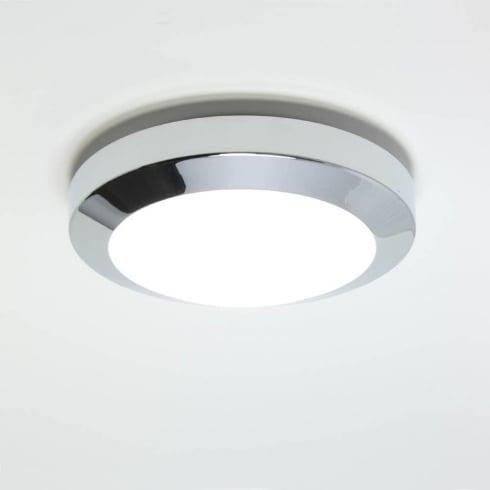 Astro Lighting Dakota Plus 180 0603 Low Energy Flush Ceiling or Wall Light Chrome with Opal Glass