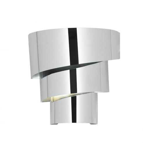 Endon Lighting Everett EVERETT-1WBCH Polished Chrome Wall Light