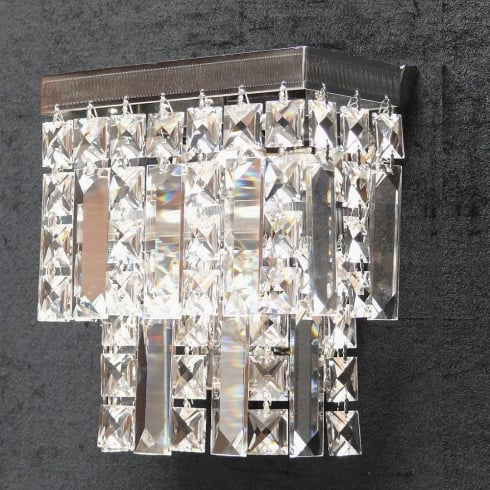 Fantastic Lighting Tempo 180/1 Crystal Square & Lozenge Wall Bracket
