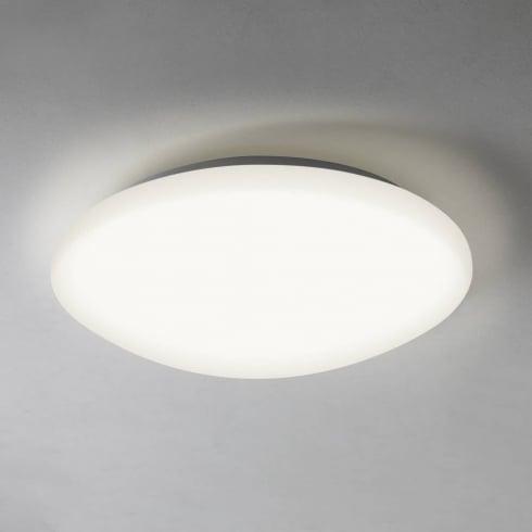 Astro Lighting Massa Sensor 7395 Round Flush LED Bathroom Ceiling Light with PIR White Opal IP44