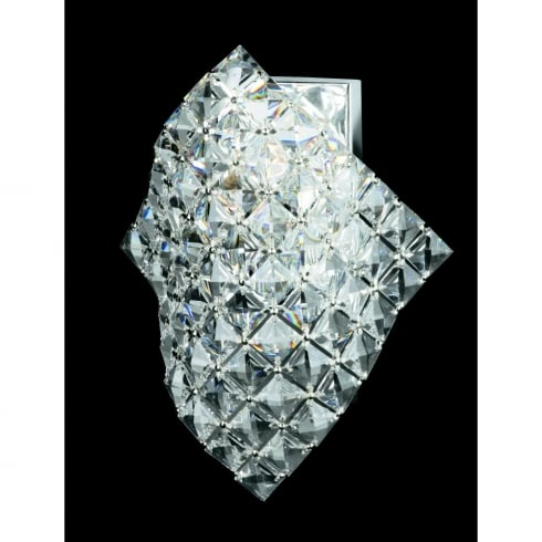 Impex Russell DIAMOND CE01081/WB/CH Polished Chrome Wall Light