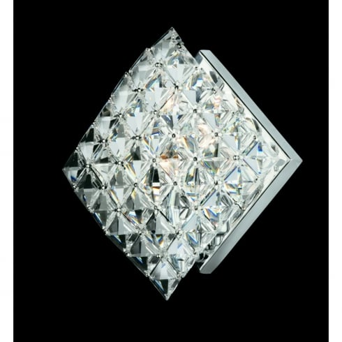 Impex Russell DIAMOND CE01082/WB/CH Polished Chrome Wall Light