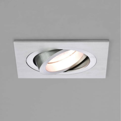 Astro Lighting Taro 12v 5575 Brushed Aluminium Square Adjustable Downlight Low Voltage
