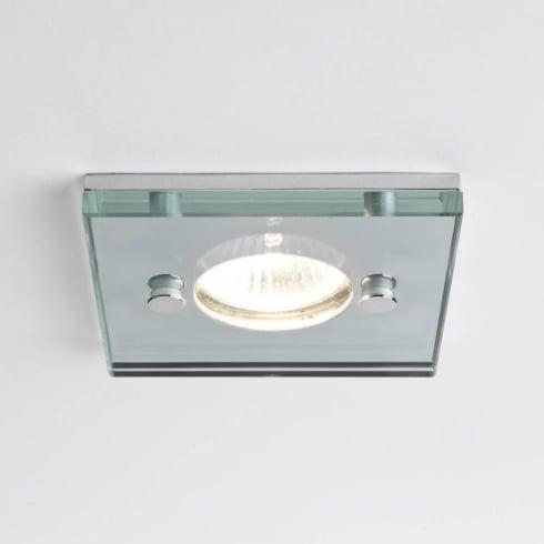 Astro Lighting Ice 230v 5504 Square Glass Chrome Shower GU10 Downlight IP65