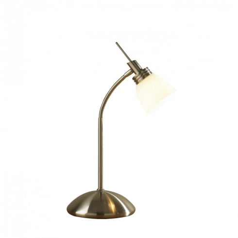 Dar Lighting Agean AGE4075 Antique Brass Touch lamp