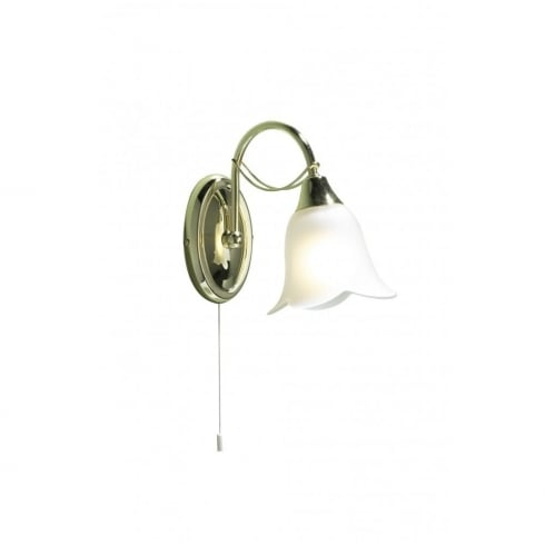Dar Lighting Doublet DOU0740 Brass Wall Light