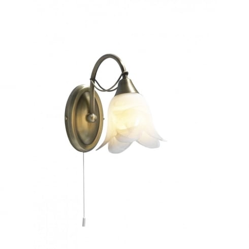 Dar Lighting Doublet DOU0775 Antique Brass Semi Flush Ceiling Fitting