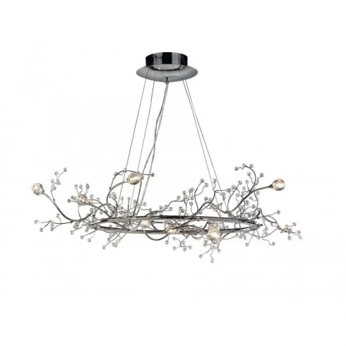 Dar Lighting Gazetta GAZ0850 Polished Chrome 8 Light Round Pendant