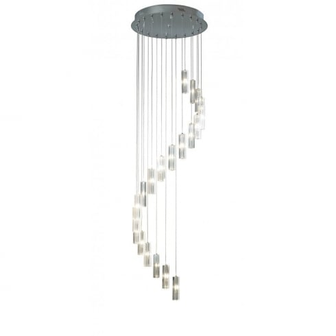 Dar Lighting Galileo GAL3350 Polished Chrome 20 Light Pendant