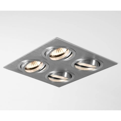 Astro Lighting Taro Quad 5664 Brushed Aluminium Quadruple Adjustable GU10 Downlight 230V