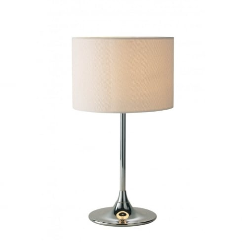 Dar Lighting Delta DEL4250 Polished Chrome Table Lamp + Shade