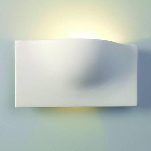 Astro Lighting Arwin 0432 Ceramic White Uplighter Wall Light