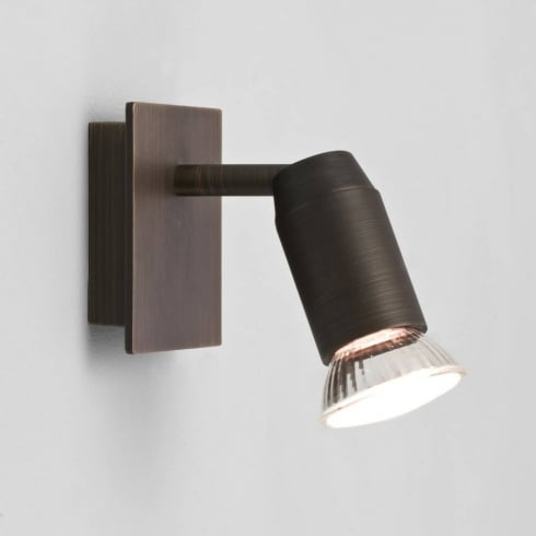 Astro Lighting Magna 6119 Bronze Adjustable Single Wall Spot Light 50w GU10