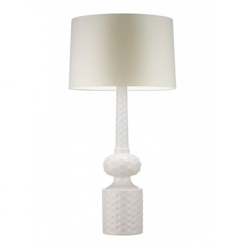 Heathfield & Co. BABYLON IVORY CRACKLE C/BABY/IV Table Lamp