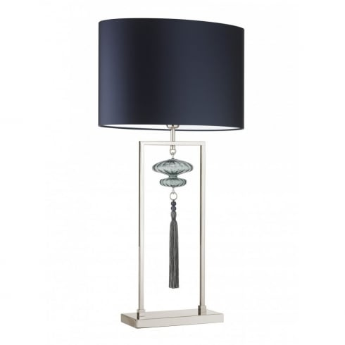 Heathfield & Co. Constance 18OV/PSAT Large Nickel Opel Jade Table Lamps
