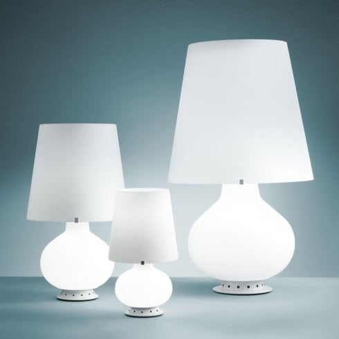 Fontana Arte Fontana White Interior Table Lamp 1853 Medium