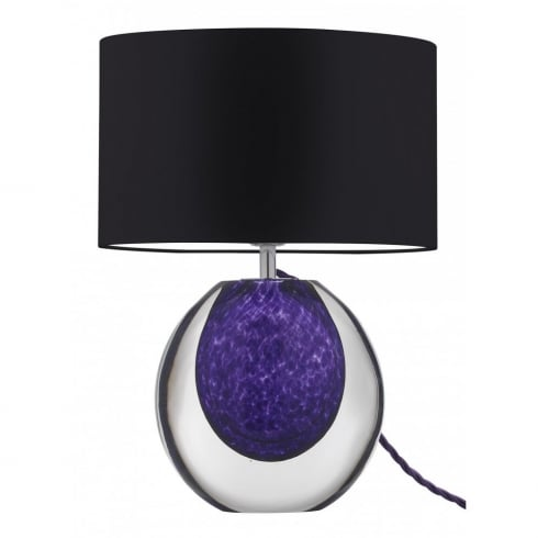 Heathfield & Co. Portia Violet G/PORT/VLT Glass Table Lamp