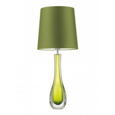 Heathfield & Co. AURIA CHARTREUSE G/AURI/CGT Green Glass Table Lamp