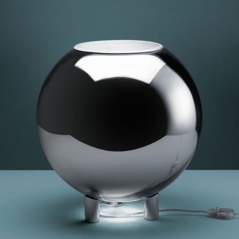 Fontana Arte Globo Di Luce Metal Interior Table Lamp 3667/1