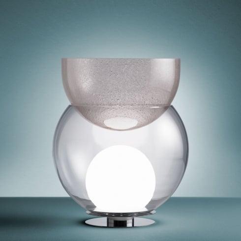 Fontana Arte Giova Clear/Pink Interior Table Lamp 2684 Small