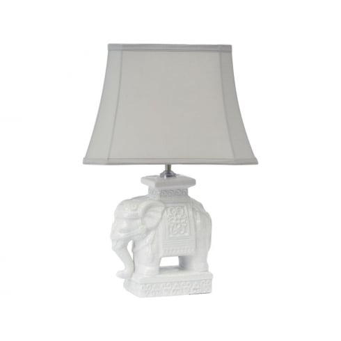 Libra Lighting and Furnishings Elephant 337950 Ceramic Table Lamp With Lamp Shade