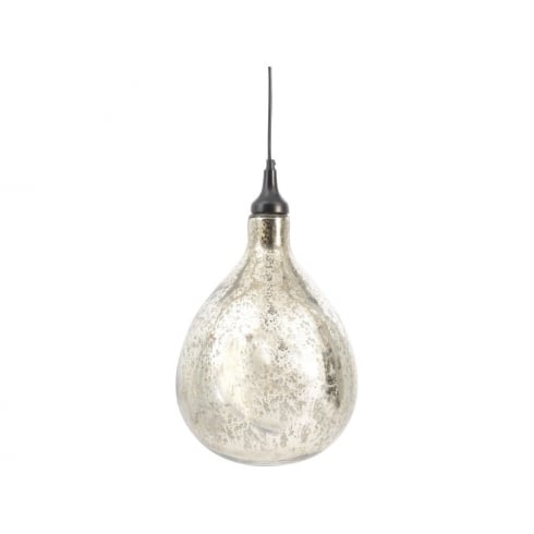 Libra lighting and furnishings bubble pendant 337808 mercury hand blown glass ceiling light aluminium iron