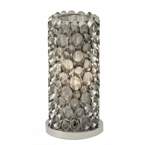 Libra Lighting and Furnishings Venus Nickel Tube 136978 Table Lamp