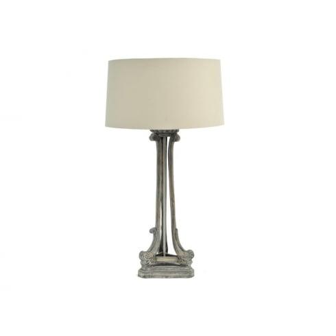 Libra Lighting and Furnishings Roxborough 337646 Mindi Tri Leg Table Lamp Wooden Lamp Base and Cream Lamp Shade