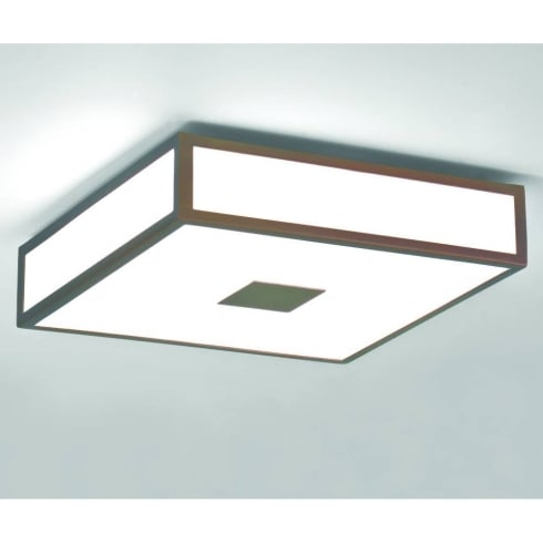 Astro Lighting Mashiko 300 0639 Flush Bathroom Ceiling Light Bronze with Opal Glass IP44