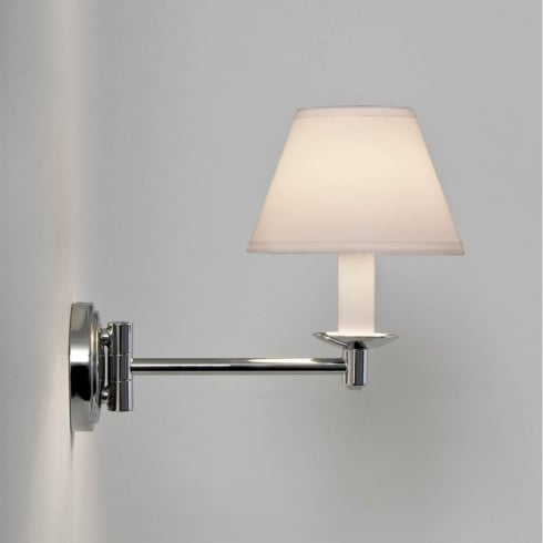 Astro Lighting Grosvenor 0511 Unswitched Polished Chrome Finish Swing-Arm Surface Bathroom Wall Light