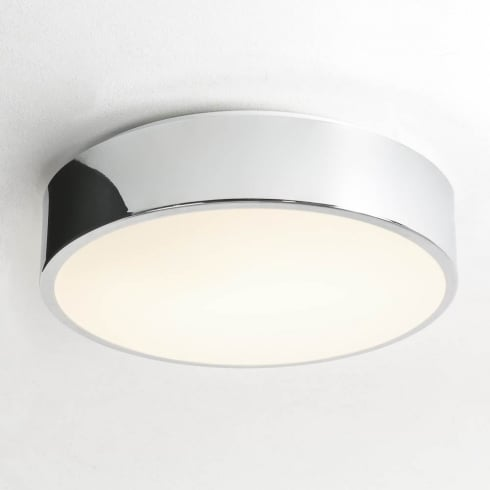 Astro Lighting Mallon Plus 0591 Unswitched Polished Chrome Finish Round Flush Ceiling Light
